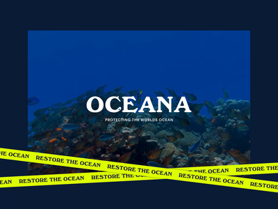 Oceana—rebranding exploration logo branding typography art direction ui design