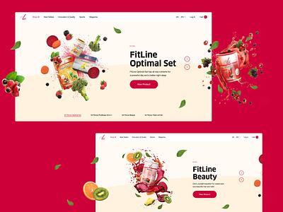 FitLine—Website typography layout website art direction ui design