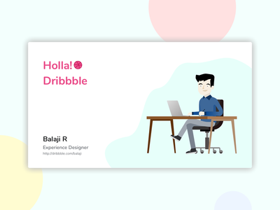 Holla! Dribbble shot first
