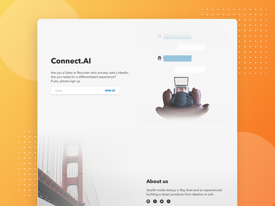 Connect.AI landingpage