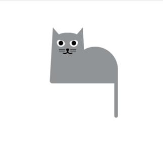 Cute cat created via pure css codepen css illustraion cat
