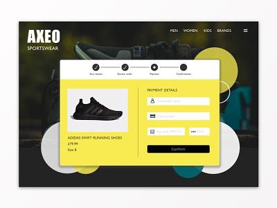 Daily UI #002 - Credit card checkout checkout sketchapp design ux ui dailyui