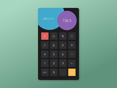 Daily UI #004 - Calculator design ux ui sketchapp dailyui