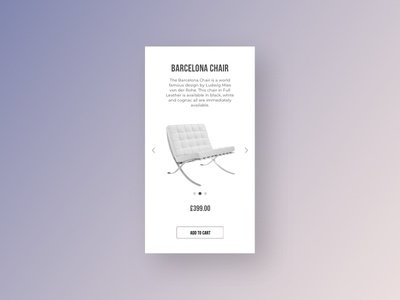Daily UI #012 - Ecommerce Shop