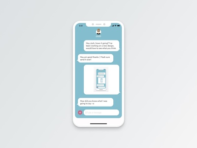 Daily UI #013 - Messaging App messagingapp iphonex design ux ui sketchapp dailyui