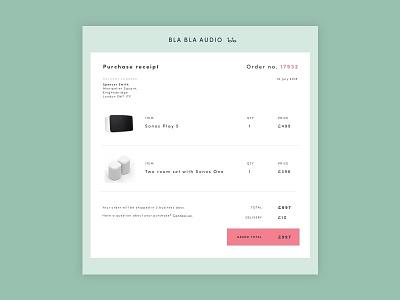 Daily UI #017 - Email Receipt receipt dailyui017 design ux ui sketchapp dailyui