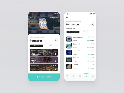 HealthyAr Product Recognised compare list augmentedreality machine learning ux ui typography iphone x health app augmented reality ar