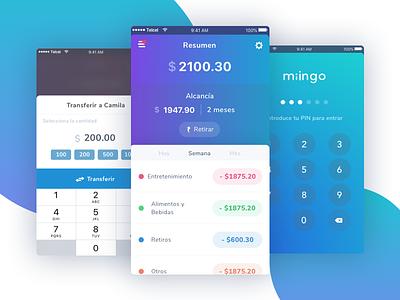 Miingo - UI parents banking children ui