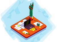 Isometric desktop