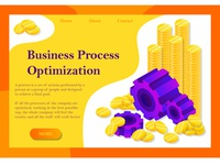 Business Process Optimization - Banner & Landing Page