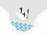 Aand another isometric illustration for a brand guide