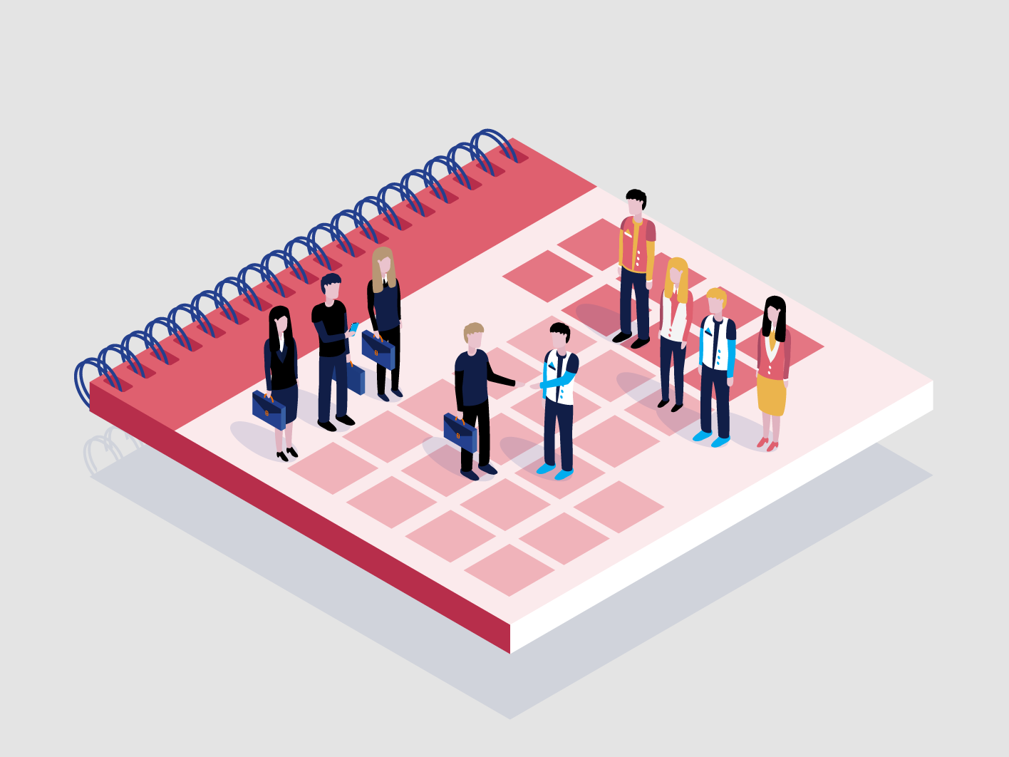 Aand another one isometric illustration for a brand guide branding isometric colorful design colorful art vector illustrator illustration design