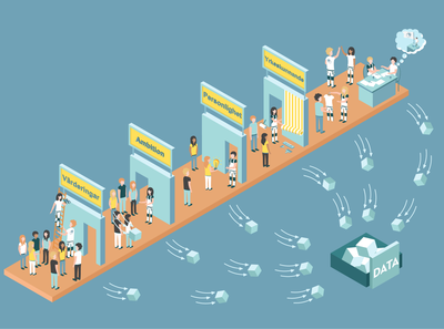 Work in isometric style