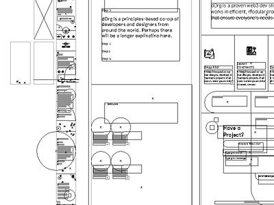 Cmd + Y web design wireframe