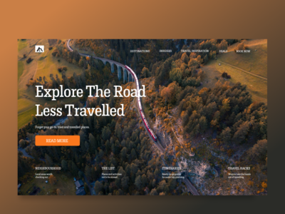 Explore Travel Web Design