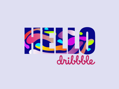 Hello Dribbble hello dribbble illustration design first shot debut