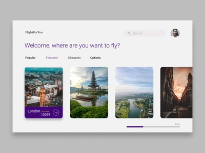 Find Flight UI Design