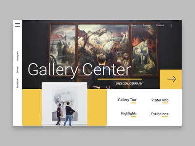 Gallery center web design