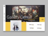 Gallery center web design