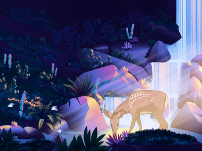 A L L 3 1 forest illustration nature illustration deer illustration animation nature butterfly lake deer illustration