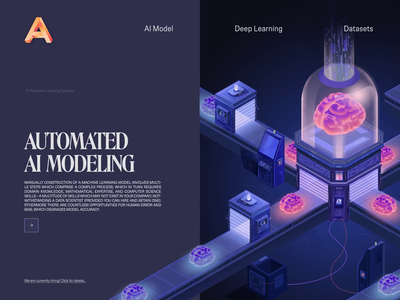 AI M machine learning landing page animated transition ux ui motion animation