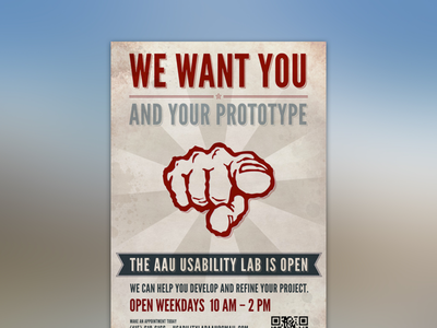 UX lab is open (Poster series - 2 of 4) print poster
