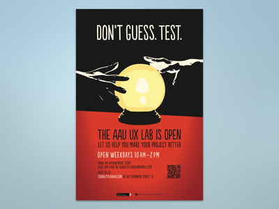 UX Lab Season 2 (Poster series - 2 of 2) print poster