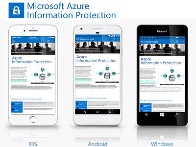 Office Information Protection Cross-Platform App uwp windows10 ui ux android ios