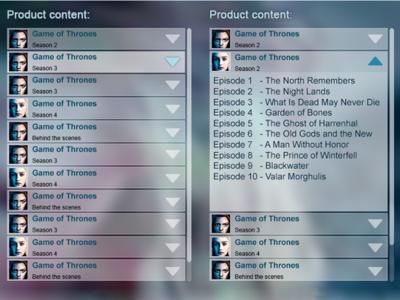 VOD content over translucent video player vod ux ui tv smart-tv live design