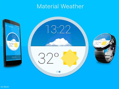 Md Weather watch app weather material-design