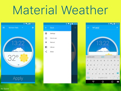 Md Weather App watch app weather material-design
