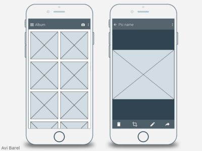 TriPic AR material-design android ios front-end design ui ux