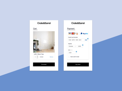 Daily UI | 002 - Credit Card Checkout