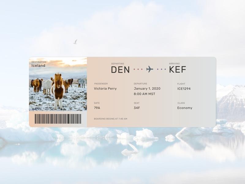 Daily UI | 024 - Boarding Pass boarding pass daily ui 024 daily ui challenge
