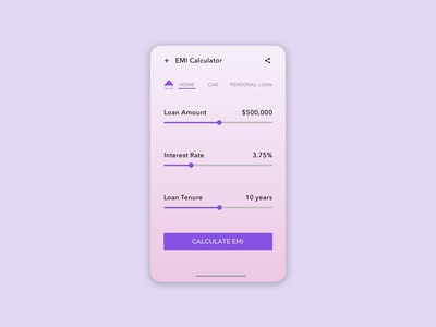 Daily UI | 036 - EMI Calculator