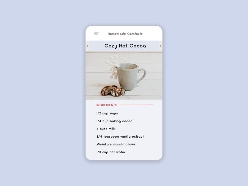 Daily UI | 040 - Recipe recipe daily ui challenge daily ui 040