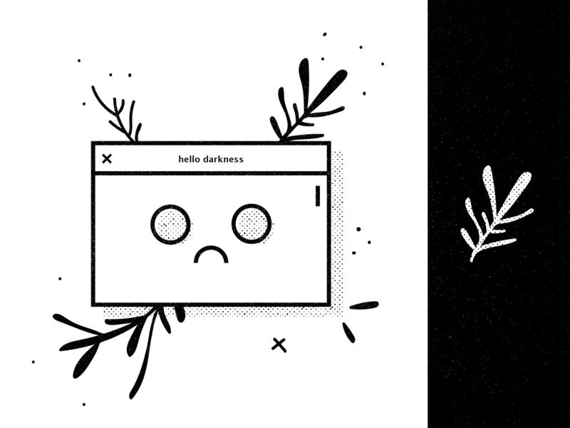 Scroll Pain uidesign graphicdesign floral scroll white black emo sad illustration ui