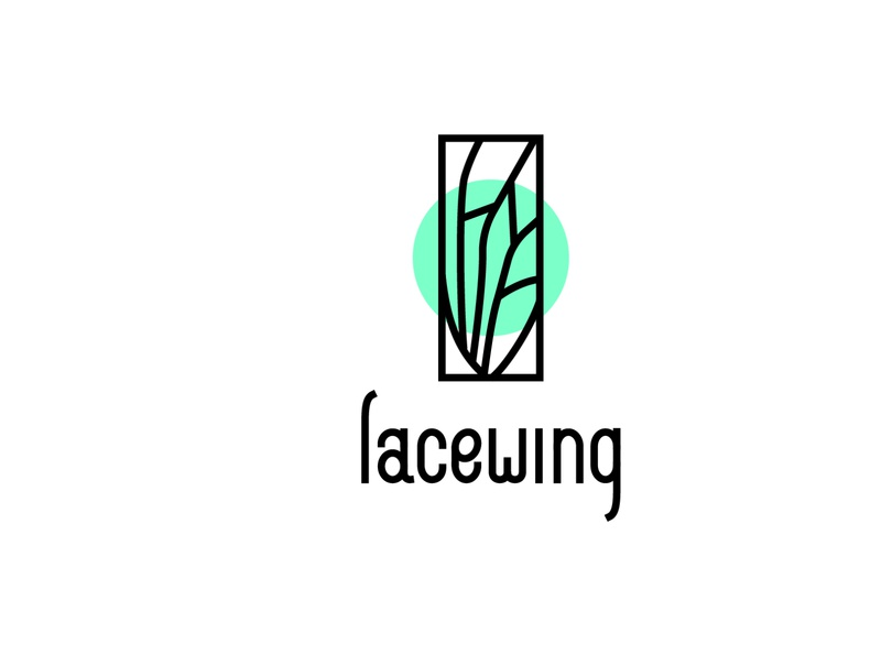lacewing abstract abstraction wing nature fly lacewing brand branding minimal hand lettering handlettering handdraw logotype logo