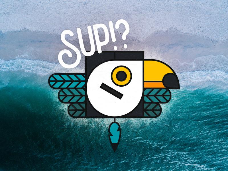 Sup!? graphic design toucan animal minimal sup illustration debut shot debut