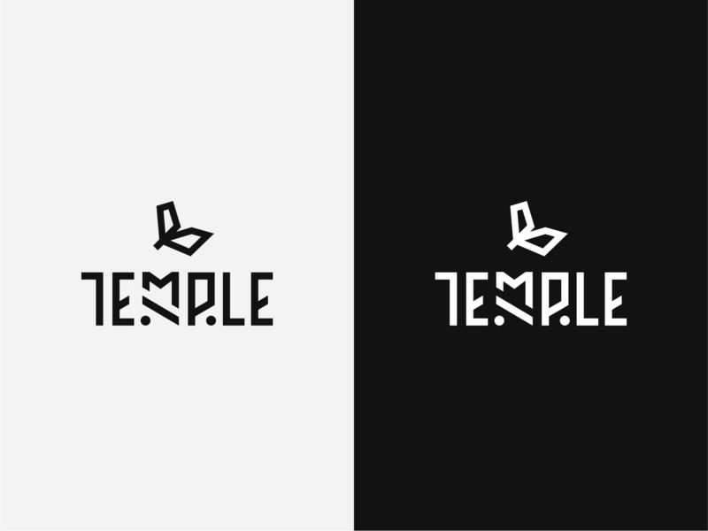 """Temple"" logo draft americana mayan aztec typeface illustration typography branding vector minimal logo logo design wip hand drawn graphic minimal graphic design logo"