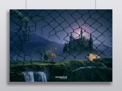 Compositing : Castel by night tutorial photoshop photomanipulation forest effect compositing night brush