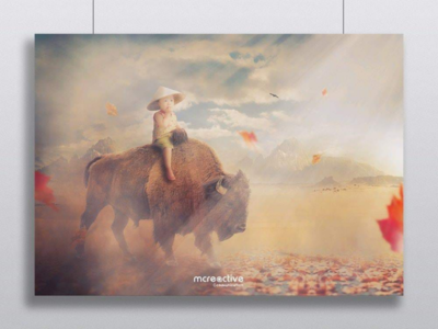 Compositing : Buffalo and Child