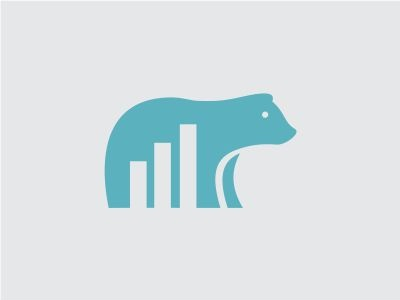 Data Bear Logo statistic bear logo data chart animal