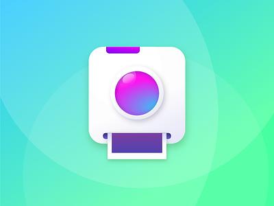 Polaroid Camera Icon gravit designer polaroid app skeuomorphic vibrant icon camera
