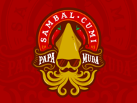 Sambal Cumi Papa Muda Logo Design