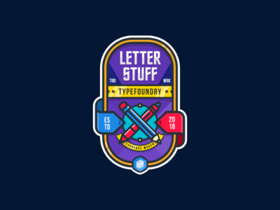 LetterStuff Typefoundry Badge Design