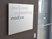 Midco Coworking Exterior Signage