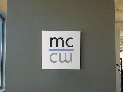 Midco Coworking Logo Sign logotype logo minion myriad square signage sign coworking space coworking
