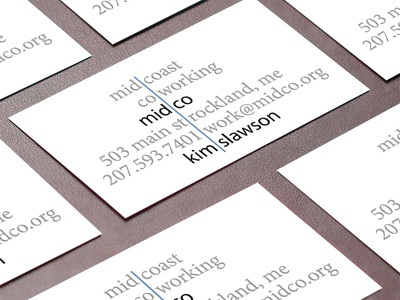 Midco Coworking Business Card