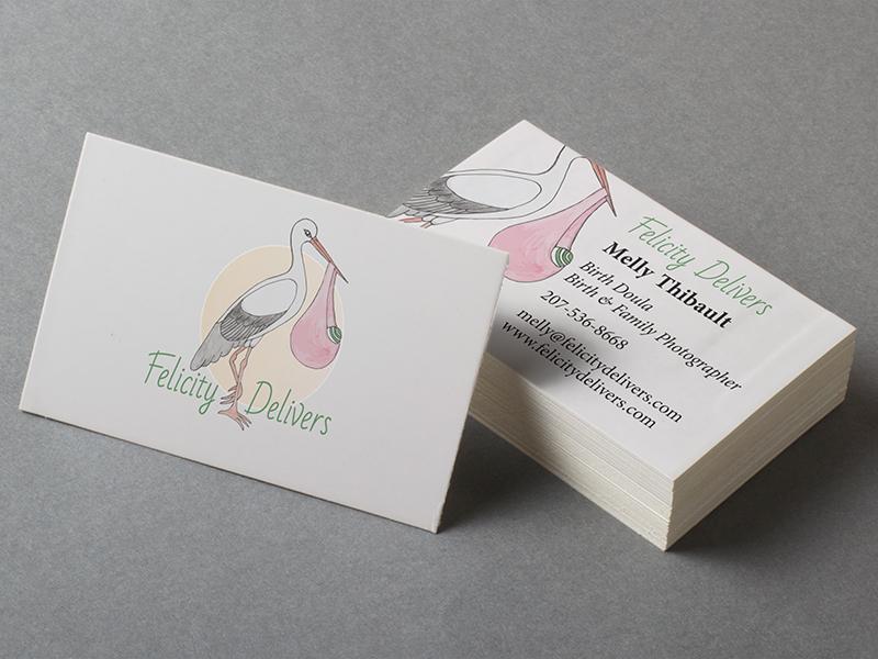 Felicity delivers business card mockup dribbble sharp